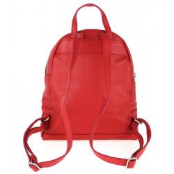Kožený batoh MI1084 biely Made in Italy, Biela #4