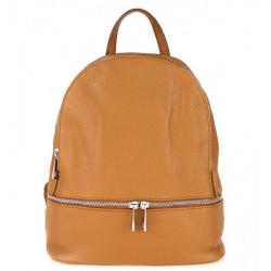 Kožený batoh MI1084 koňakový Made in Italy, Koňak