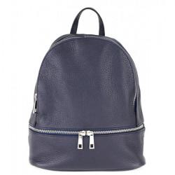 Kožený batoh MI1084 modrý Made in Italy, Modrá