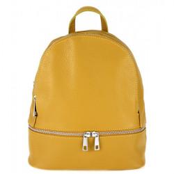 Kožený batoh MI1084 okrový Made in Italy, Okrová