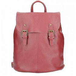 Kožený batoh MI202 Made in Italy tmavočervená, Červená