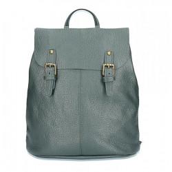 Kožený batoh MI202 Made in Italy tmavozelená, Zelená