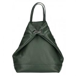 Kožený batoh MI344 tmavozelený Made in Italy, Zelená