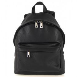 Kožený batoh MI360 čierny Made in Italy, Čierna