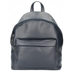 Kožený batoh MI360 modrý Made in Italy, Modrá