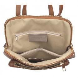 Kožený batoh MI899 biely Made in Italy, Biela #1