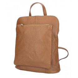 Kožený batoh MI899 koňakový Made in Italy, Koňak