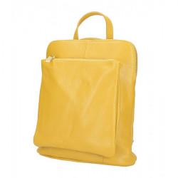 Kožený batoh MI899 okrový Made in Italy, Okrová