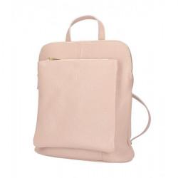 Kožený batoh MI899 pudrovo ružový Made in Italy, Pudrová ružová
