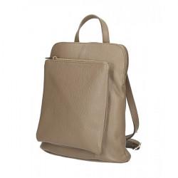 Kožený batoh MI899 tmavo šedohnedý Made in Italy Šedohnedá