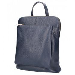 Kožený batoh MI899 tmavomodrý Made in Italy, Modrá