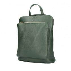 Kožený batoh MI899 tmavozelený Made in Italy, Zelená