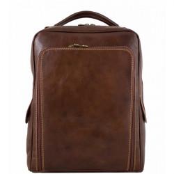 Kožený batoh MI902 hnedý Made in Italy, Hnedá