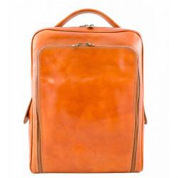 Kožený batoh MI902 koňakový Made in Italy, Koňak
