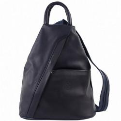 Kožený batoh modrý Made in Italy, Modrá