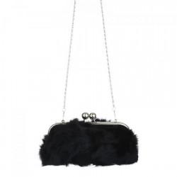 Kožušinová kabelka 1150R Michelle Moon, Čierna #1