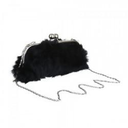Kožušinová kabelka 1150R Michelle Moon, Čierna #2