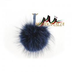Kožušinový prívesok/kľúčenka POM POM modrá, Farba modrá