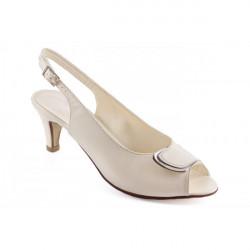 Krémové sandále 1099 ZODIACO, 37, Krémová