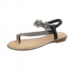 Letné sandále 157 čierne, 41, čierna