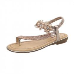 Letné sandále 157 ružovozlaté, 41, ružová