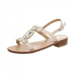 0fa27d31d3617 Letné sandále s kamienkami béžové, 41, béžová