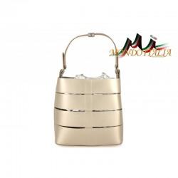 Luxusná talianska kabelka 713 zlatá MADE IN ITALY
