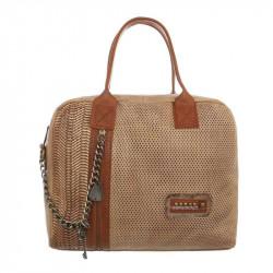 Módna dámska kabelka 1473 marhuľová, marhuľová