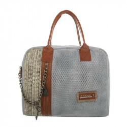 Módna dámska kabelka 1473 šedá, šedá