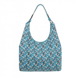 Módna dámska kabelka na rameno 1474 modrá, modrá