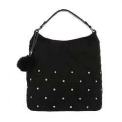 Modrá kabelka na rameno 440 Dudlin čierna, Čierna