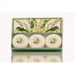 Mydlo prírodné Konvalinka 3 x 100 g MADE IN ITALY 1429