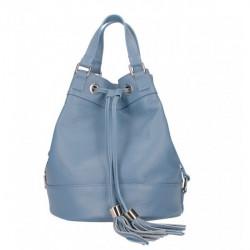 Nebesky modrá kožená kabelka 338, Nebesky modrá