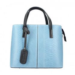 Nebesky modrá kožená kabelka 960, Nebesky modrá