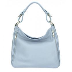 Nebesky modrá kožená kabelka na rameno 390 Nebesky modrá
