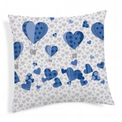 Obliečka na vankúš Balóny modrá 40x40 cm Made in Italy Modrá