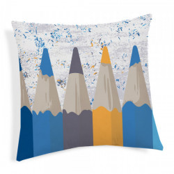 Obliečka na vankúš Ceruzky modrá 40x40 cm Made in Italy Modrá