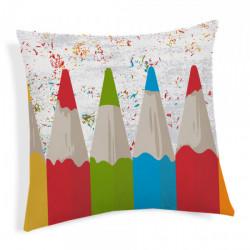 Obliečka na vankúš Ceruzky viacfarebná 40x40 cm Made in Italy, Off White