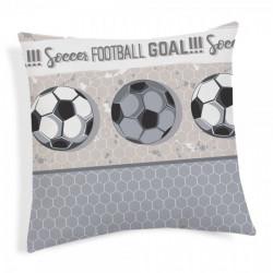 Obliečka na vankúš Futbal šedá 40x40 cm Made in Italy Šedá