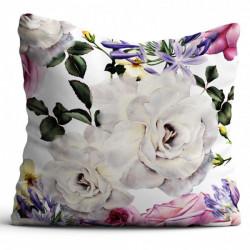 Obliečka na vankúš MIGD404-118-01 kvety Biela 40 x 40 cm