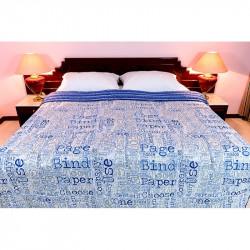 Obojstranný posteľný prehoz FREESTYLE 701 modrý MADE IN ITALY, modrá