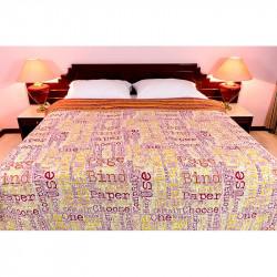 Obojstranný posteľný prehoz FREESTYLE 701 oranžový MADE IN ITALY, oranžová