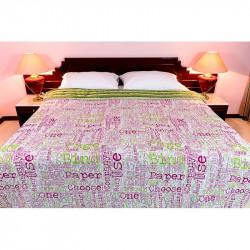 Obojstranný posteľný prehoz FREESTYLE 701 zelený MADE IN ITALY, zelená