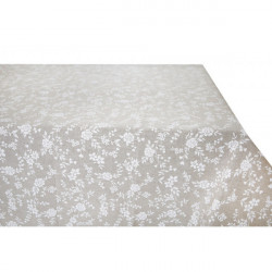 Obrus biele kvety Made in Italy, Béžová, 90 x 90 cm