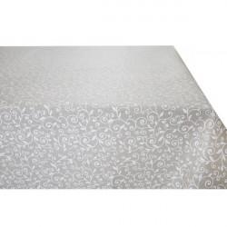 Obrus biele lístie Made in Italy, Béžová, 90 x 90 cm