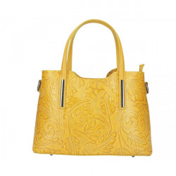 Okrová kožená kabelka 1493, Okrová