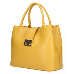 Okrová kožená kabelka 5307, Okrová