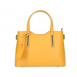 Okrová kožená kabelka do ruky 1364 Made in Italy, Okrová