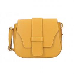 Okrová talianska kožená kabelka na rameno 870A, Okrová