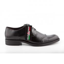 Pánska kožená obuv 283 Nicola Benson, Čierna, 42